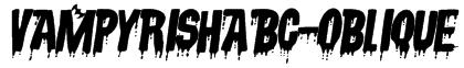 VampyrishABC-Oblique Font