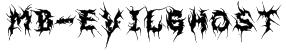 MB-EvilGhost Font