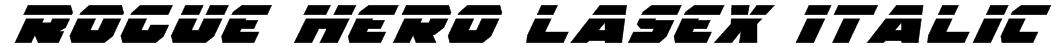 Rogue Hero LasEx Italic Font