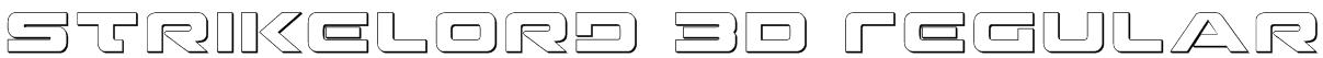 Strikelord 3D Regular Font