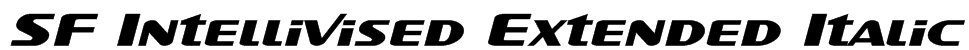 SF Intellivised Extended Italic Font