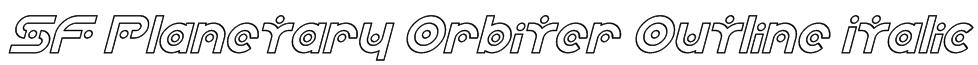 SF Planetary Orbiter Outline Italic Font