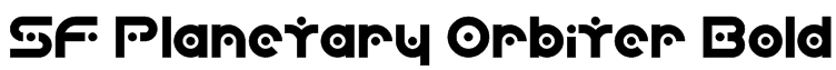 SF Planetary Orbiter Bold Font