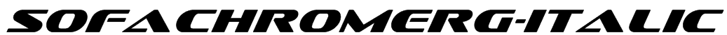 SofachromeRg-Italic Font