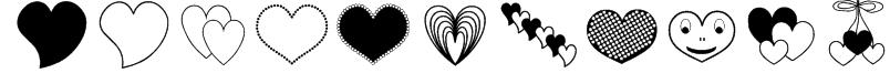 ap_justhearts Font