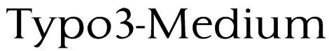 Typo3-Medium Font
