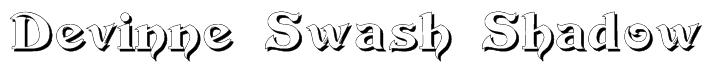 Devinne Swash Shadow Font