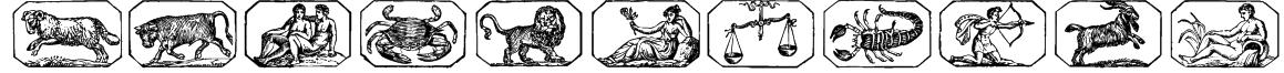Zodiac00 Font