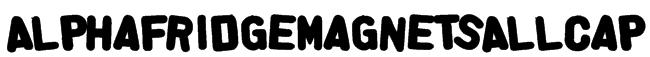 AlphaFridgeMagnetsAllCap Font