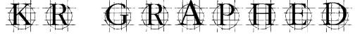 KR Graphed Font