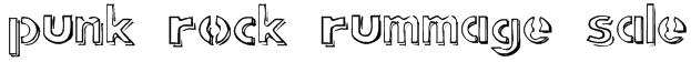 punk rock rummage sale Font
