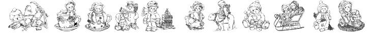 KR Holiday Teddies Three Font