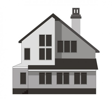 Modern two story house vector illustration download free for Modern house clipart