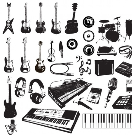 guitar,illustration,illustrator,instrument,music,note,object,play,sound,studio,symbol,shape,rock,song,treble,party,retro,piano,scroll,vectors,icons,musical,jazz,string,harp,orchestra,ornate,folk,music instruments,panpipes,sax vector