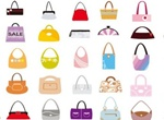 49 Fashionable Woman's Purses/ Bags Vector Set