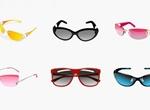 12 Trendy Colorful Sunglasses Vector Set
