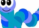 Big Eyed Cartoon Inch Worm Vector