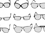 9 Eyeglasses And Sunglasses Vector Set