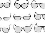 9 Eyeglasses And Sunglasses Vector Set