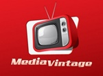 Red Vintage TV Media Vector Graphic
