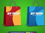 Bold Colors Shopping Bag Vector Set