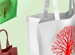 3 Vector Shopping Bags With Tree Set