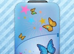 Blue Butterfly Travel Bag Vector Icon