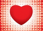 Bold Red Heart Vector Background