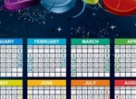 2013 Starry New Years Vector Calendar