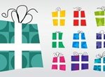 10 Crazy Gift Box Vector Shapes Set