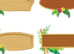 4 Bamboo Wooden Frame Vectors