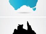 2 Vector Maps Of Australia Continent