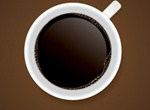 Perfect Cup Of Coffee Aerial View Vector Graphic
