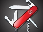 Realistic Red Swiss Army Knife Vector Graphic