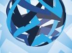 Rotating Blue Abstract Vector Earth