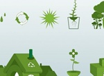 8 Go Green Ecology Vector Elements Set