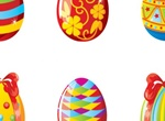 Glass Painted Easter Eggs Illustration
