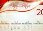 Glowing Bokeh Christmas 2014 Calendar