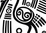 Mayan Crane Art Design Vector