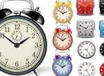 Collection Of Clocks Vector Graphics