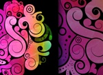 Free Swirly Vector Background