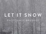 Let It Snow Free Photoshop Brushes