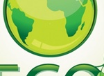 Green Glossy Globe Eco Vector Graphic