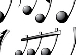Glossy Black Musical Notes Vector Set