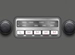 Retro Replica Ford Capri Vector Radio