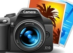 Basic DSLR Photo Camera Vector Graphic