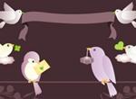 Bird Messages Vector Illustration