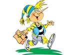 Buratino School Boy Cartoon Vector Graphic