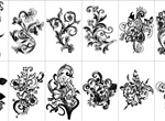 12 Free Hand Drawn Floral Vector Design