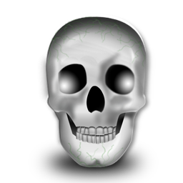 head skeleton skull icon - Halloween Skeleton Head